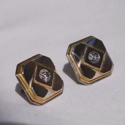 Boucles d'oreilles vintage platine et diamants Elliade paris