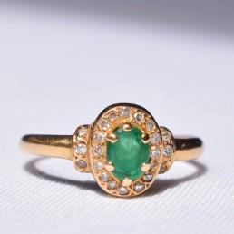 Bague émeraude et diamants Elliade