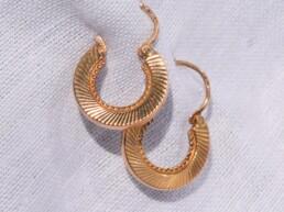 boucles d'oreilles créoles vintage