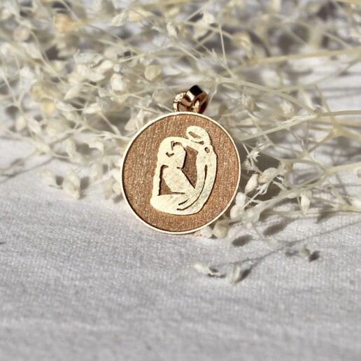 medaille vierge vintage astrologique signe or