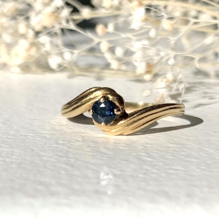 bague vintage tourbillon saphir ancienne ring sapphire gold or