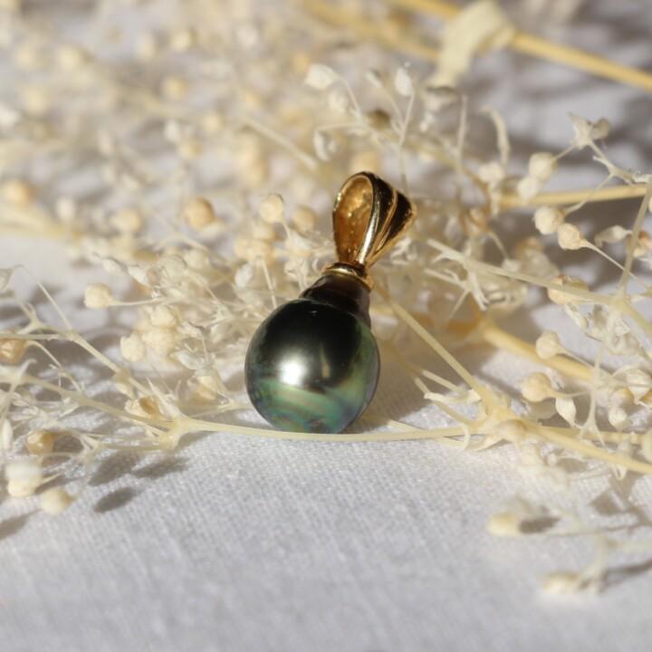 perle vintage taihiti seconde main ethique pendentif