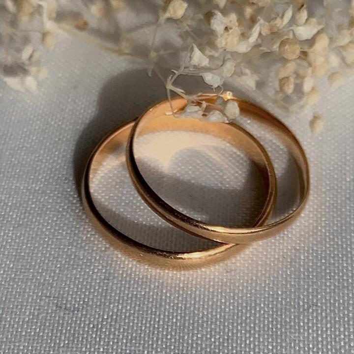 bague alliance unique vintage or jaune rose stcking rings